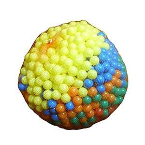 1000 balles de jeux - en plastique - Ø env. 5,5 cm - pour piscine, tente à balles ou château gonflable
