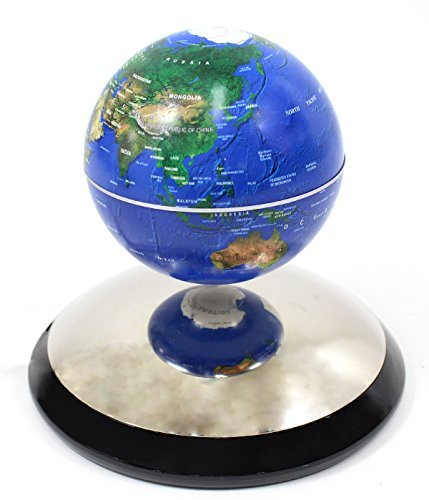 PowerTRC® Geographic Revolving and Levitating Globe, 4″, Blue Ocean