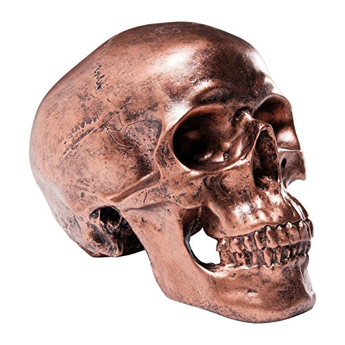 Salvadanaio Skull Copper Antique di KARE Design