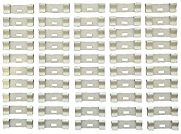 50 Pack Strip of CURVED VERTICAL BLIND Vane Saver IVORY REPAIR CLIPS from Shade Doctor of Maine - Individually Sealed Strip