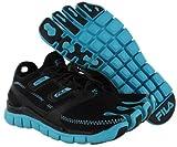 Fila Women's Skele Toes Lite Barefoot Running Shoe, Black/Black/Baby Blue (9)