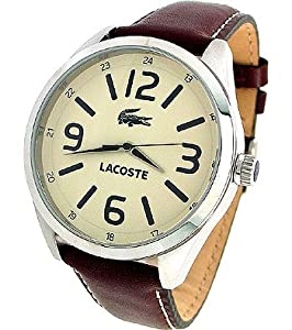 Lacoste Montreal Brown Leather Strap Mens Watch 2010618: Lacoste