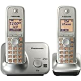 Panasonic KXTG4112C DECT 6.0 PLUS Expandable Two Handset Cordless Phone