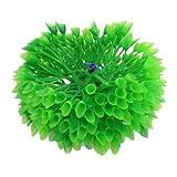 Acuario base de cerámica verde de flores de plástico plantas ornamentales