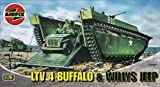 Airfix A02302 Buffalo Amphibian & Jeep 1:76 Scale Series 2 Plastic Model Kit