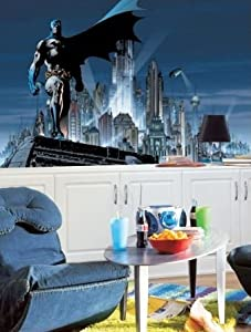 RoomMates JL1066M Batman Prepasted Chair Rail Wall Mural at Gotham City Store