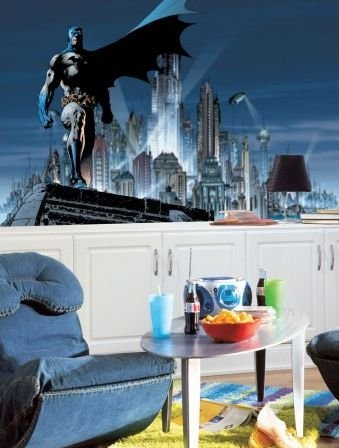 RoomMates JL1066M Batman Prepasted Chair Rail Wall Mural at Gotham City Store