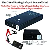 2016 SALE - LOWEST PRICE EVER - Plan Sea® Emergency Boat RESCUE/JUMPER. Onboard Battery Jump Starter with Patented Rescue Laser Flares. Most Important of All Boating Accessories. A True MUST HAVE for Anyone with a Boat.