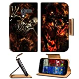 Flames Fire Hell Skeletons Digital Art Motorola Moto X Flip Case Stand Magnetic Cover Open Ports Customized Made to Order Support Ready Premium Deluxe Pu Leather 5 7 16 Inch (138mm) X 3 1 16 Inch (78mm) X 9 16 Inch (14mm) MSD Mobility cover Professional MotoX Cases Moto_X Accessories Graphic Background Covers Designed Model Folio Sleeve HD Template Designed Wallpaper Photo Jacket Wifi Protector Cellphone Wireless Cell phone