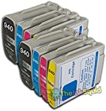 The Ink Squid Compatible Ink Cartridges. Replacement for HP 940 & HP 940 XL (2 x Black, 2 x Cyan, 2 x Magenta, 2 x Yellow). Compatible with HP Officejet 8500a Plus e-All-in-one HP Officejet Pro 8000 8000 Wireless 8500A E All-in-One 8500 All-in-one 8500A