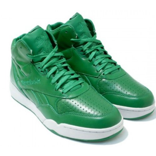 REEBOK MENS TRAINERS UK SIZE 12 - GREEN REVERSE JAM MID