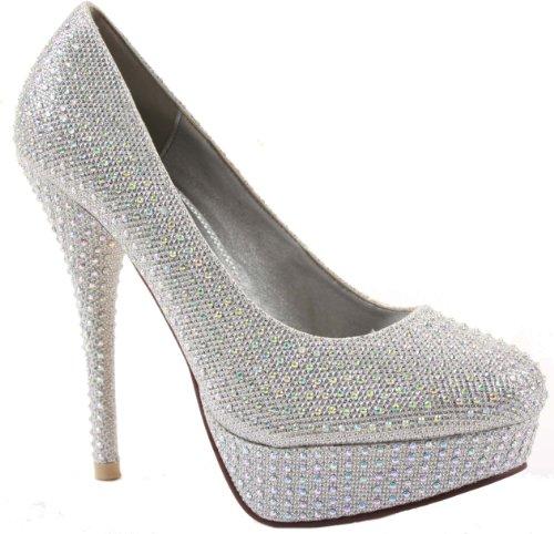 Ladies Platform Pumps High Heel Stiletto Court Shoes Size with shoeFashionista Boutique Bag