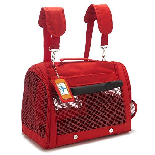 Prefer Pets Backpack Pet Carrier, Red