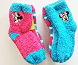 Disney Minnie Mouse 6-Pack Softee Fuzzy Socks (2T-4T, Minnie Mouse)