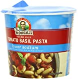 Dr. McDougall's Right Foods Vegan Tomato Basil Pasta Soup, Lower Sodium, 1.3-Ounce Cups (Pack of 6)