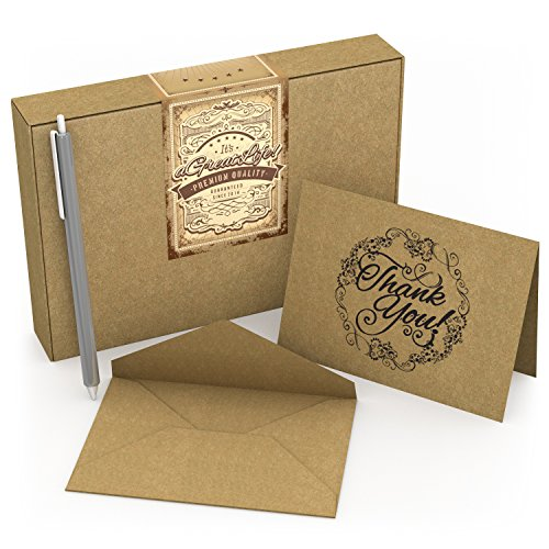 50-count-krafty-thank-you-cards-with-envelopes-free-pen-best-note-card-for-wedding-graduation-bridal