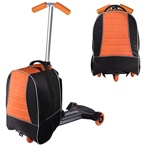 Travel Luggage with Scooter for Kids Backpack (ORANGE)