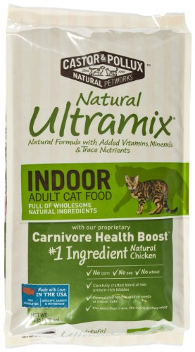 Image of Castor & Pollux Ultramix Indoor Feline Fomula Dry Cat Food, 15-Pound Bag