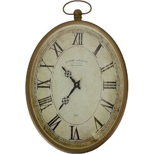 Creative Co-op Pocket Watch Style Old World Design Wall Clock