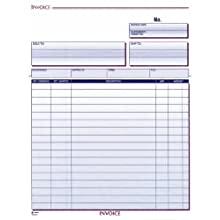 Adams Invoice Unit Set, 8.5 x 11.44 Inch, 2-Part, Carbonless, 50-Pack, White and Canary (NC2812-50)