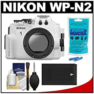 Nikon WP-N2 Waterproof Underwater Case Housing for 1 J3 & S1 Digital Camera & 10-30mm Lens with Battery + Accessory Kit