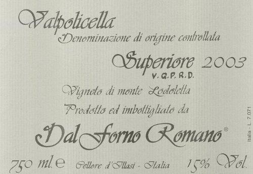 2003 Romano Dal Forno Valpolicella Superiore 750 Ml