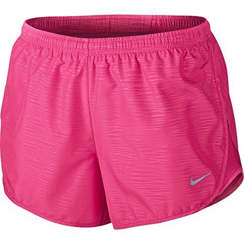 Nike MODERN EMBOSSED TEMPO SHORT - Pantaloncini Donna, Rosa - (hyper pink), M