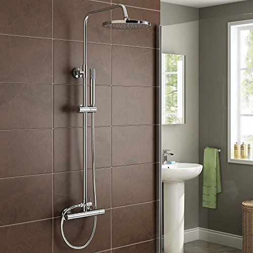 Rigid Exposed Thermostatic Chrome Bar Mixer Shower Set with Handheld Shower Set SV6005