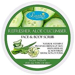 Luster Refresher Aloe Cucumber Face & Body Cream Scrub, 400g