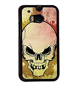 Fuson Premium 2D Back Case Cover Skull With Multi Background Degined For HTC One M8::HTC M8