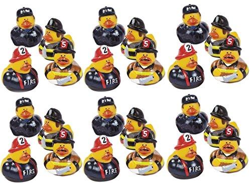 Lot Of 24 Firefighter Fireman Fire Fighter Hero Rubber Ducks Duckys front-778956