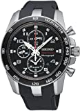 Seiko Men's Quartz Watch Sportura Alarm-Chronograph SNAE87P1 with Plastic Strap