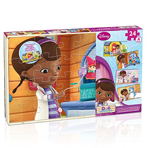 Cardinal Industries Doc McStuffins 4 Wood Puzzle - 1
