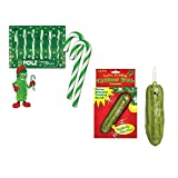 Holiday Pickles (Includes 1 box of Pickle Flavored Candy Canes & 1 Yodelling Pickle Ornament)