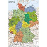 (24x36) Germany Map Reference Poster