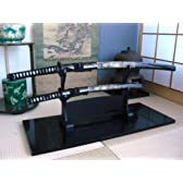 美術刀剣-模造刀 日本刀・DTセット(大刀・小刀・二本掛台セット)