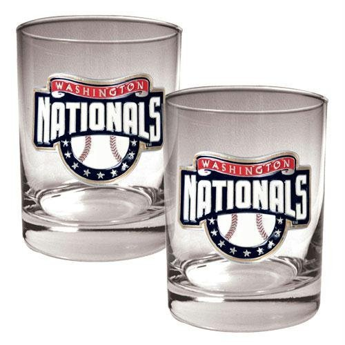 MLB Washington Nationals Two Piece Rocks Glass Set - Primary Logo at Amazon.com