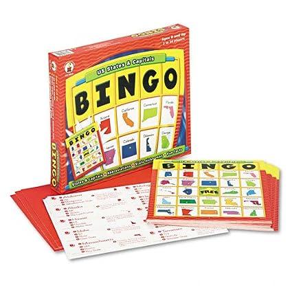 U.S. States and Capitals Bingo (CDPCD8913) Category: Educational Games