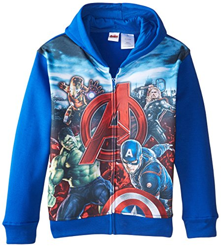 Marvel Big Boys' Avengers Full Zip Sublimation Hood