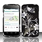 [The Three Knights] for Lg Nexus 4 E960 (T-mobile) Rubberized Design Cover - White Flowers Free Lucky String Wooden Fish Charm Bracelet Jewelry