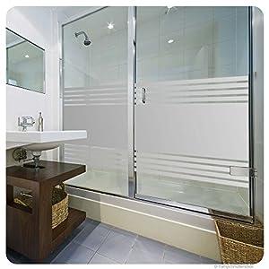 glasdekorfolie dusche folie f r duschkabine fensterfolie bad sichtschutz streifendesign. Black Bedroom Furniture Sets. Home Design Ideas