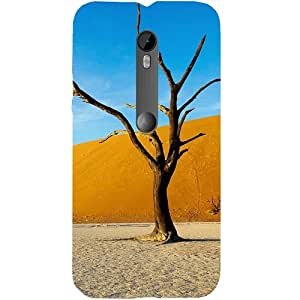 Casotec Dry Tree Design Hard Back Case Cover for Motorola Moto G 3rd Generation