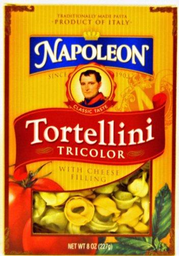 Napoleon Pasta Tortellini Tri Color, 8-Ounce (Pack of 6)
