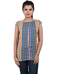 ESTYLe Multi Colour Striped Trendy Printed Rayon Western Top