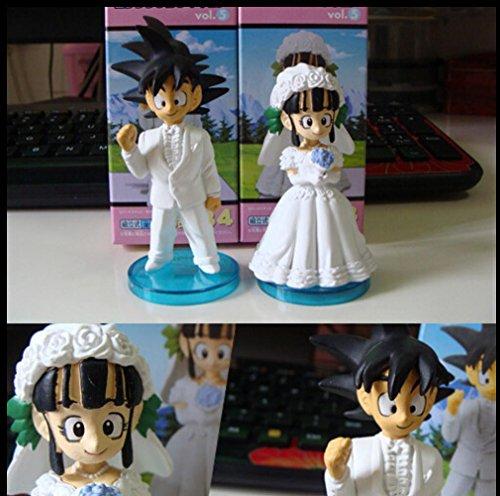 Rosy Women New Toys Project Cartoon Dragon Ball Z Super Saiyan Action Figures Model Goku Chichi Wedding Dress (Chichi Costume)