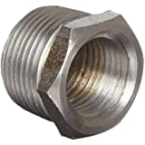 Anvil Malleable Iron Pipe Fitting, Class 150, Hex Bushing, NPT Male x NPT Female, Black Finish