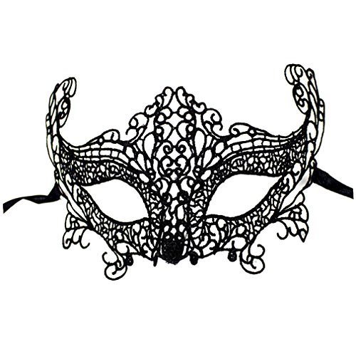 Demarkt Black Lace Swan Ball Masquerade Cosplay Costume Eye Mask