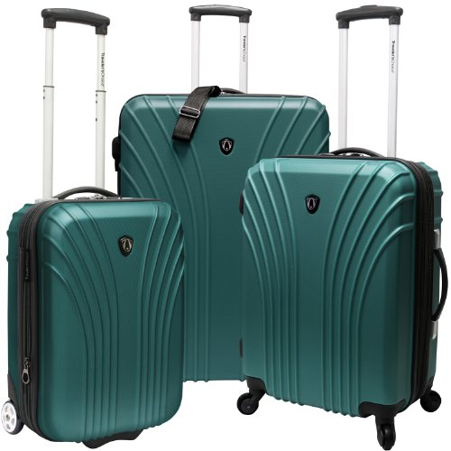 Travelers Choice Luggage 3-Piece Hardside Ultra Lightweight Set, Green, Large best buy