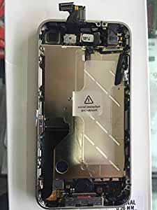 IPHONE 4 DISPLAY & TOUCH DIGITIZER BLACK WITH MIDDLE FRAME AND CHARGING FLEX.