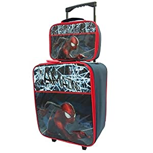Marvel Comics Spiderman Cabin Trolley Case Set Wheeled Bag Suitcase Hand Luggage
